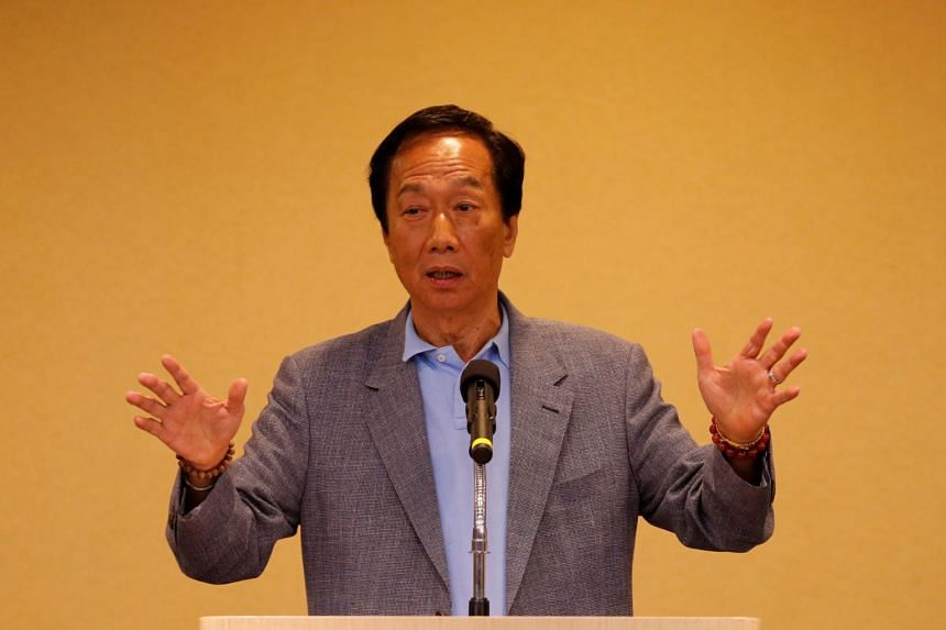 Mr Terry Gou has extensive business interests in China and is in known for his close ties with Beijing leaders.