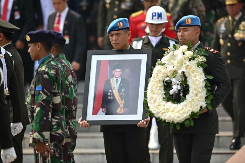 Former Indonesian president B. J. Habibie was buried in a state funeral with full military honours on Sept 12, 2019.