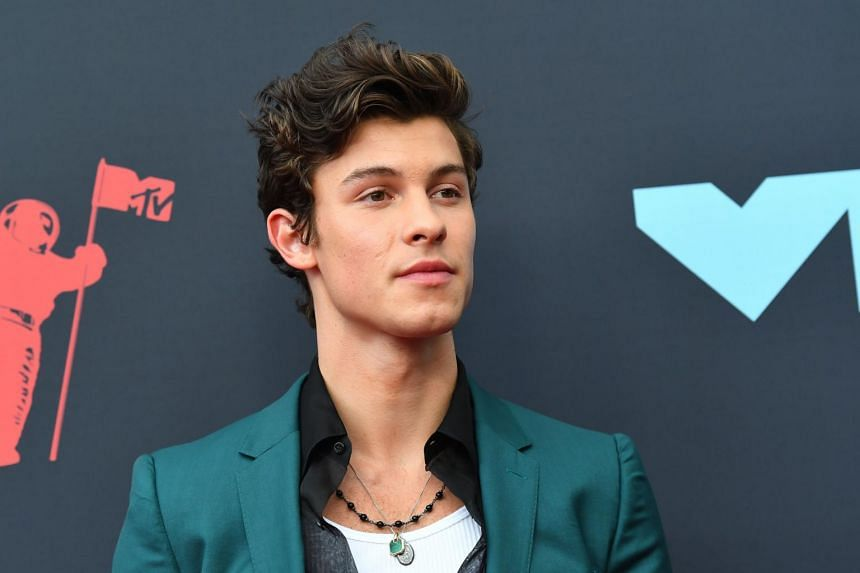 Canadian singer Shawn Mendes at the 2019 MTV Video Music Awards in Newark, New Jersey, on Aug 26, 2019.