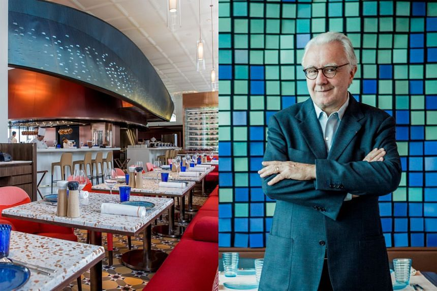 The former Bar & Billiard Room has been renamed BBR by Alain Ducasse, the renowned France-born chef (right).