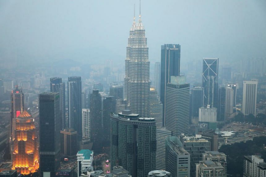 A view of the city skyline shrouded by haze in Kuala Lumpur on Sept 11