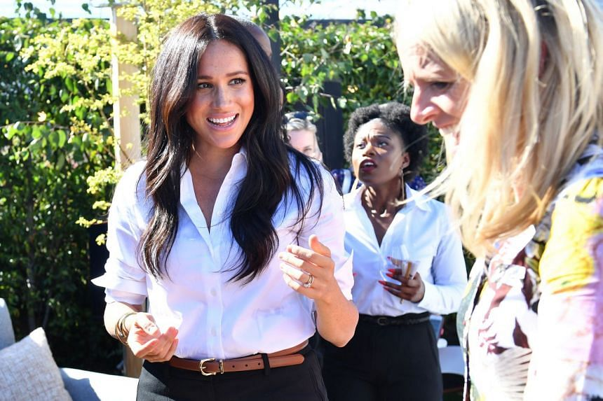 Britain's Meghan, Duchess of Sussex, attends the launching of the Smart Works capsule collection in London.