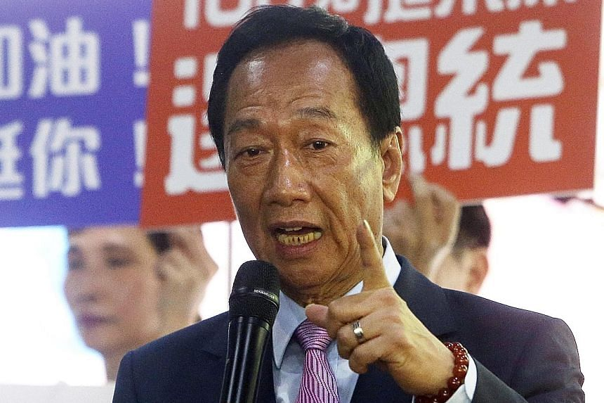 Mr Terry Gou has until next Tuesday to apply to run in Taiwan's 2020 election.