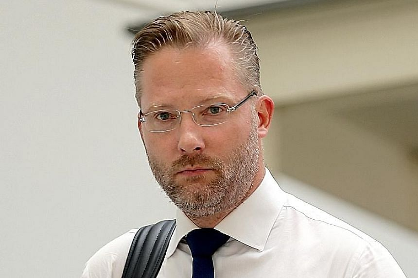 Cristian Alexander Jonsson has also been disqualified from driving all classes of vehicles for 18 months. ST PHOTO: WONG KWAI CHOW