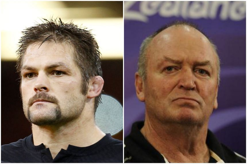 Former All Blacks captain Richie McCaw (left) and ex-coach Graham Henry are among six inductees to the 2019 World Rugby Hall of Fame.