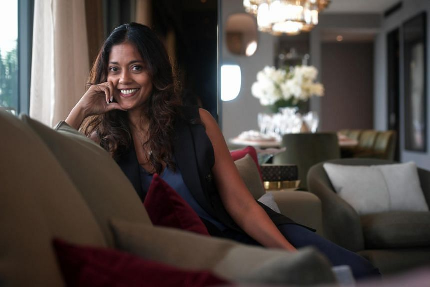 Design director at interior design studio The I.D. Dept Divya Anthony, who furnished a penthouse at Wallich Residence.