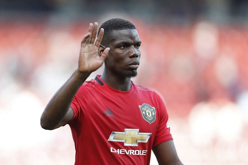 Pogba leaves the pitch at the end of a match.