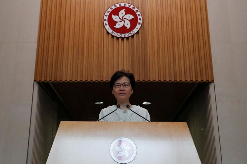Hong Kong's Chief Executive Carrie Lam speaks at a news conference in Hong Kong on Sept 10, 2019.