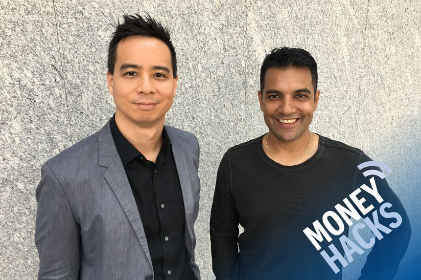 In our Money Hacks podcast, host Chris Lim (left) asks Nilan Peiris - vice-president for growth for TransferWise - how best to pay for property investments overseas.