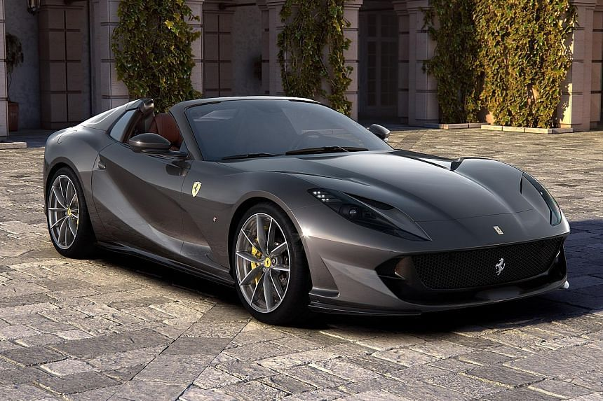 Ferrari has unveiled two open-tops: the F8 Spider and the 812 GTS (above).