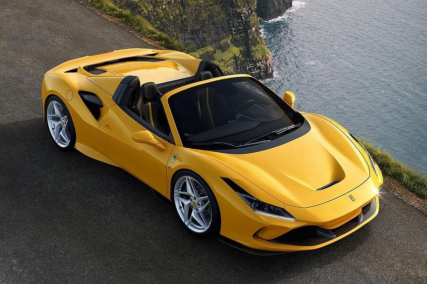 Ferrari has unveiled two open-tops: the F8 Spider (above) and the 812 GTS.