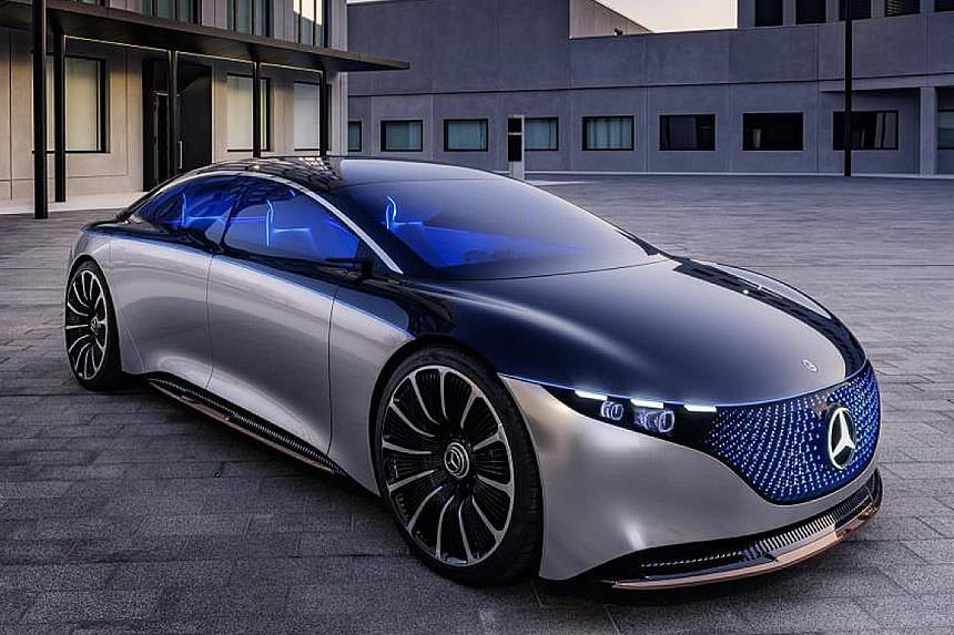 Mercedes-Benz showed off its Vision EQS (above) at the ongoing Frankfurt Motor Show.