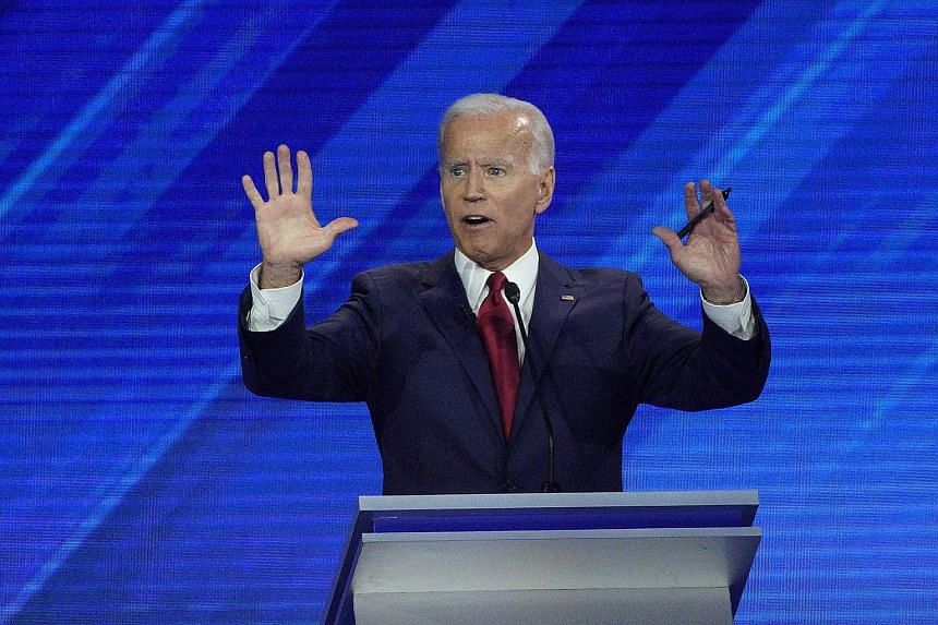 Former US vice-president Joe Biden went from contemplative to aggressive as he took on his fellow Democrats in Thursday night's debate. Unlike prior debates, where Mr Biden had struggled for words and seemed surprised by criticism, he largely deliver