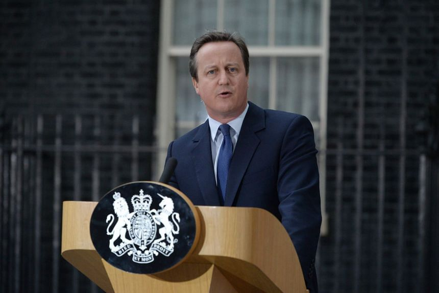 In a 2016 photo, Cameron speaks outside 10 Downing Street in London before tendering his resignation.