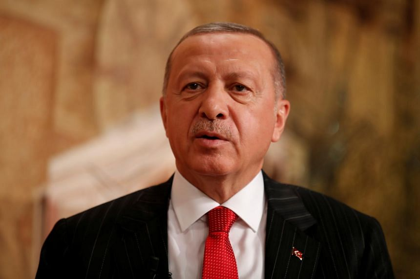Turkish President Tayyip Erdogan (above) said he had discussed buying US Patriot missiles in a phone call with US President Donald Trump two weeks ago.