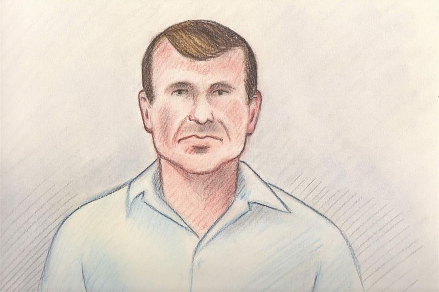 A court sketch of Cameron Ortis, director general with the Royal Canadian Mounted Police's intelligence unit.