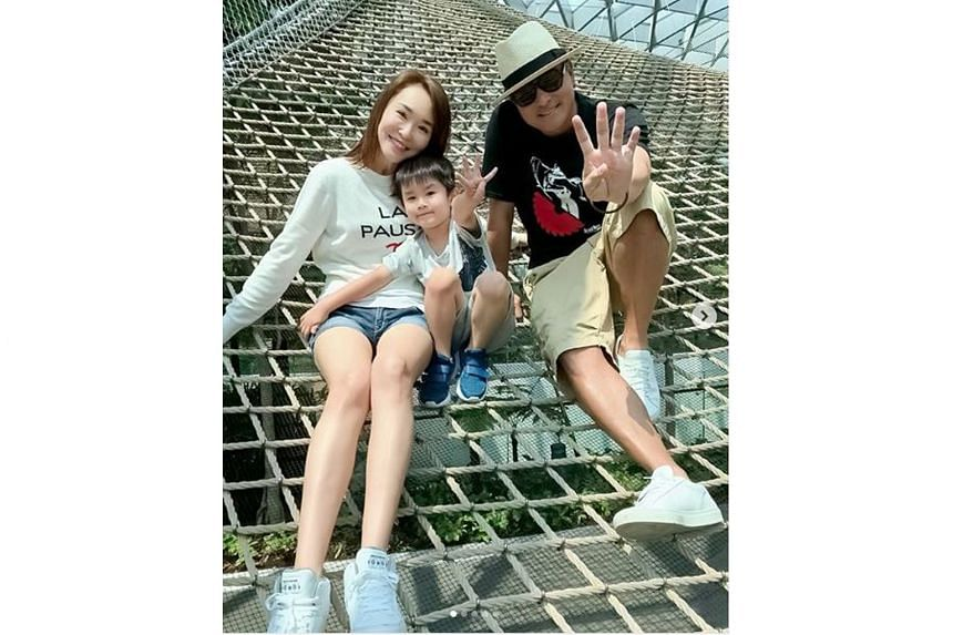 Happy family Fann Wong, Christopher Lee and their son, Zed, who is now five.
