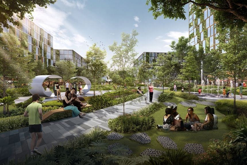 An artist's impression of the new 10ha park in the Bulim precinct, which will be built in phases from 2020.