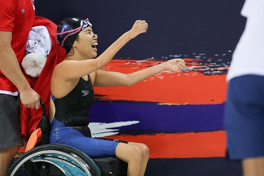 There was plenty to celebrate for Yip Pin Xiu after her two-gold haul at the World Para Swimming Championships in London. She treated herself to a congratulatory burger after her win on Friday but said she will train even harder ahead of next year's Paral