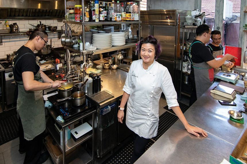 """Miss Petrina Loh, owner of Morsels, also does guest stints in restaurants and pop-ups abroad. She says: """"I don't just cook. I manage the business and everything else including the marketing. Some days, I'm like a zombie."""" But she has no regrets about"""