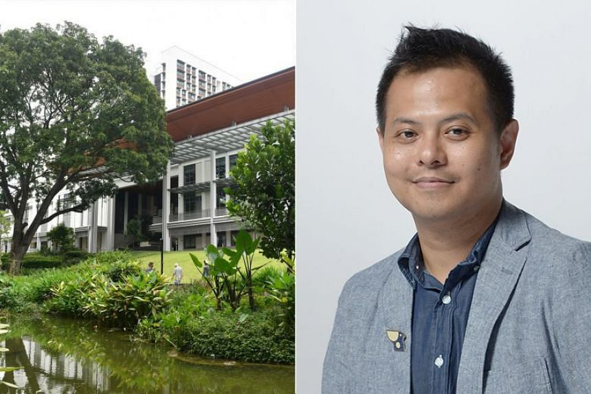 Yale University has voiced concern over the the cancelling of a programme by Yale-NUS College (left) that was to be led by playwright Alfian Sa'at.
