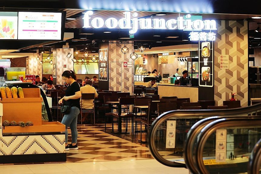 The Food Junction foodcourt at United Square. The chain's acquisition, which is expected to be completed in the last quarter of this year, is set to make BreadTalk the third-largest foodcourt operator here. BreadTalk plans to focus initial efforts af