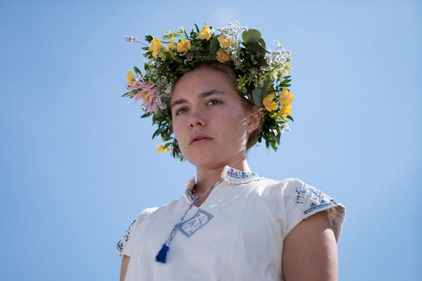 Midsommar stars Florence Pugh as a woman who tags along on a trip to a Swedish commune with her boyfriend and his buddies.