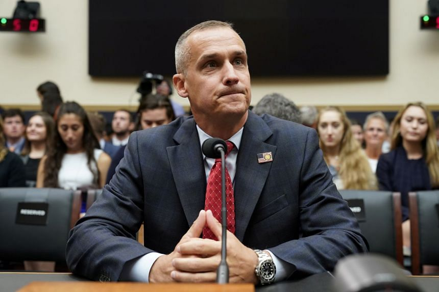 Lewandowski takes his seat to testify at the start of the US House Judiciary Committee's first hearing of their impeachment investigation.