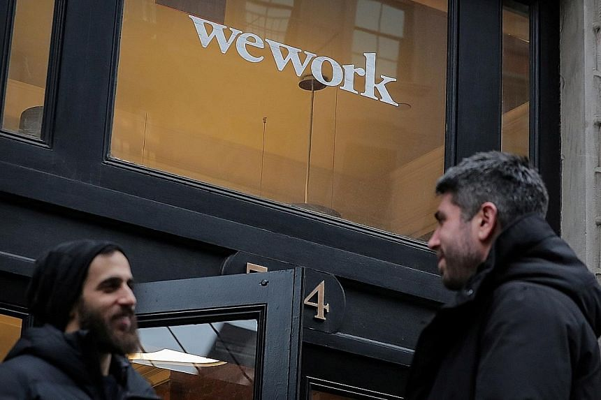 In the run-up to the IPO launch, WeWork owner The We Company faced concerns over its corporate governance standards, as well as the sustainability of its business model. PHOTO: REUTERS