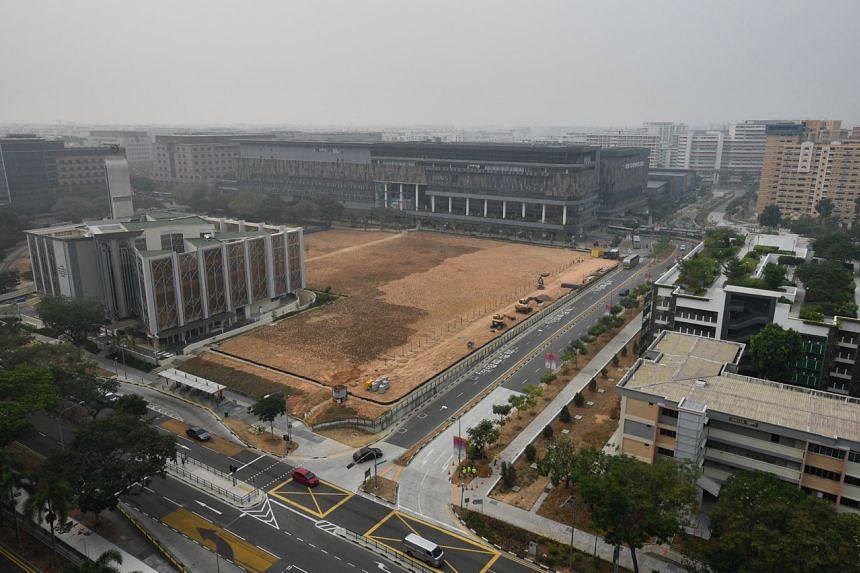 The view from Block 518B Tampines Central 7 at 9.12am on Sept 18, 2019.