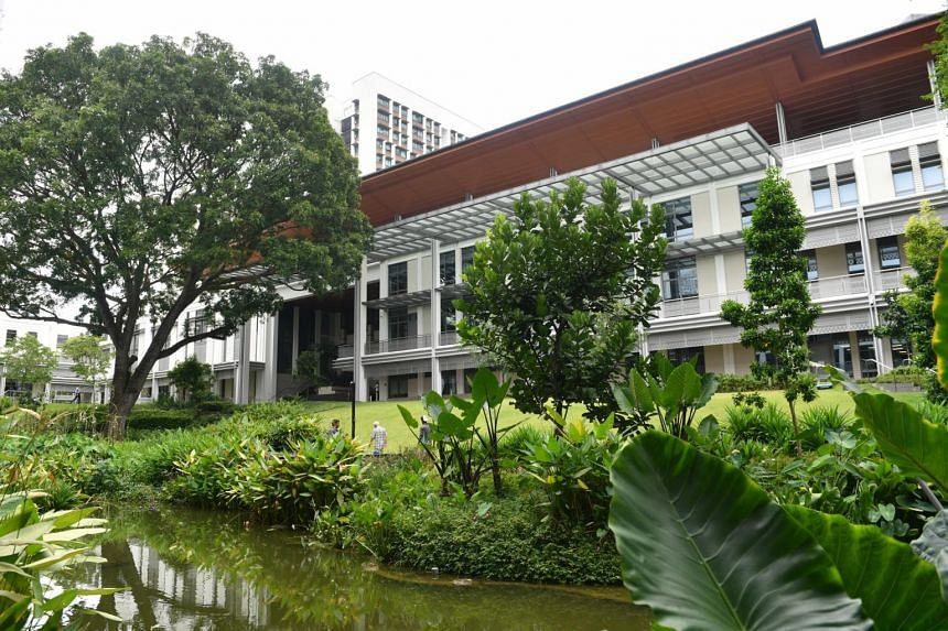 The Yale-NUS College campus in Singapore, on March 14, 2017.