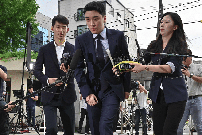 BigBang member Seungri (above), singer Jung Joon-young and actor Park Yoo-chun have been implicated in scandals and crimes, ending their careers as pop idols.