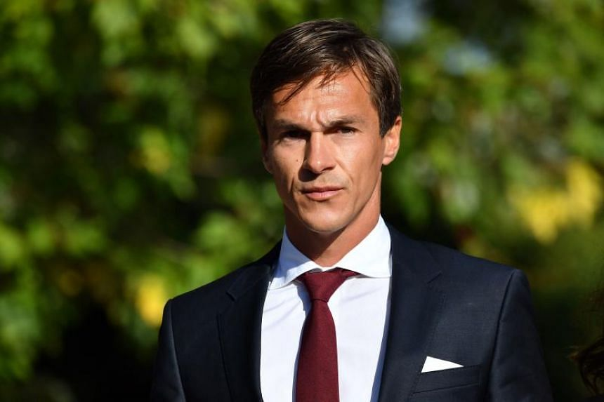 Danish golfer and Ryder cup winner Thorbjorn Olesen arrives at Isleworth crown court in London to face charges of sexual assault on Sept 18 2019