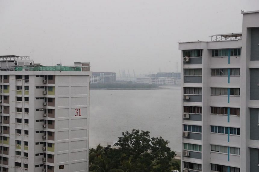 Another part of Teban Gardens in Jurong shrouded in haze on the morning of Sept 19, 2019.