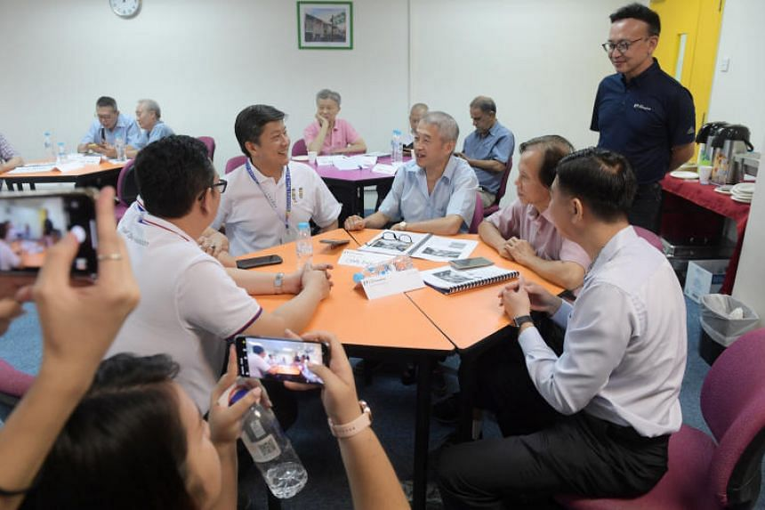 Labour chief Ng Chee Meng attended a portion of the digital training course on Sept 19, 2019.