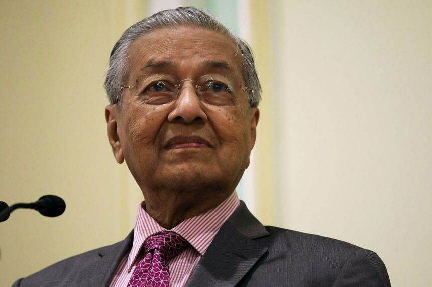 A Sept 18 photo showing Dr Mahathir at a news conference in Putrajaya.