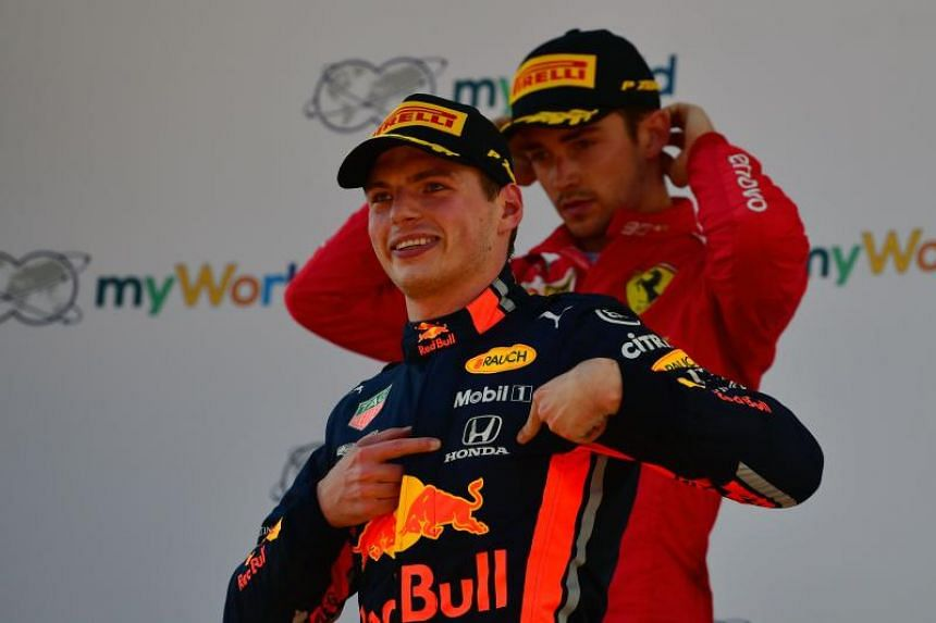On the cusp of age 22, Charles Leclerc (right) and Max Verstappen are young guns of the same calibre, harbingers of a more aggressive style of racing.