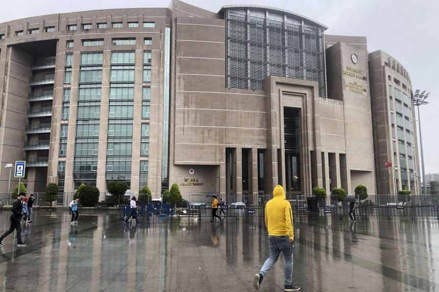 The Justice Palace in Istanbul on Sept 20, 2019. Reporters Kerim Karakaya and Fercan Yalinkilic have been accused of trying to undermine Turkey's economic stability.