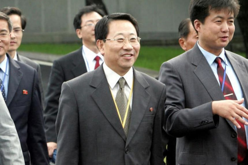 In a file photo taken on Aug 8, 2007, North Korea's new chief nuclear negotiator Kim Myong Gil leaves after attending a meeting in Panmunjom, north of Seoul.