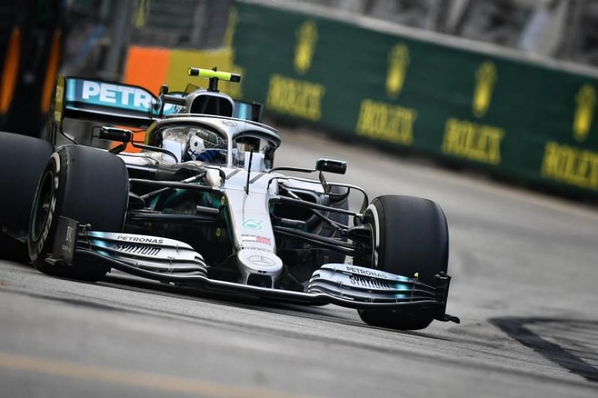 Mercedes' Valterri Bottas was fourth, but the Finn crashed out with a little under half an hour left on the clock when his car snapped out of control on the exit of turn 19 and ploughed into the barriers.