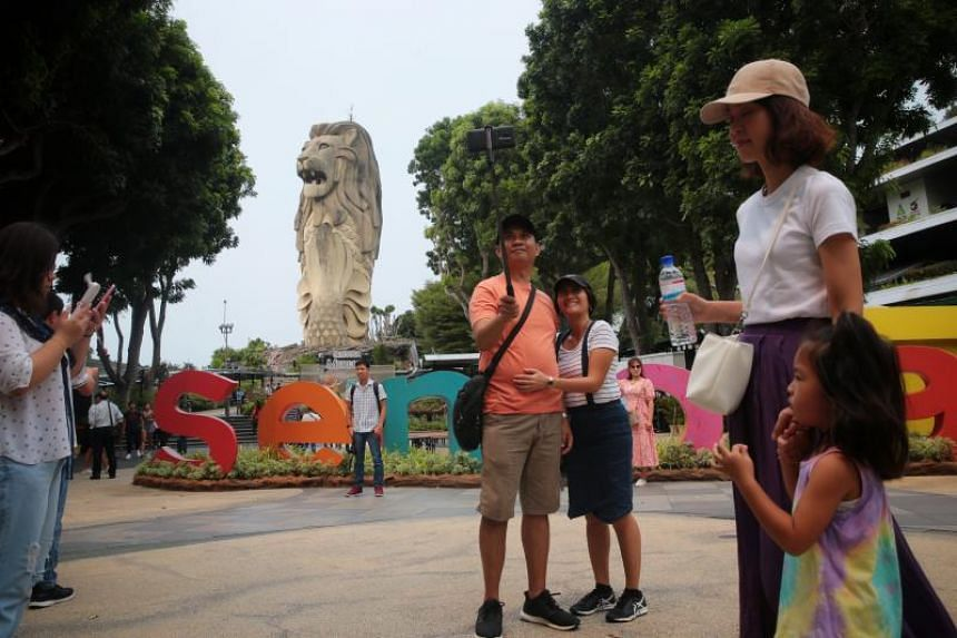 The Merlion statue sits at the heart of Sentosa.