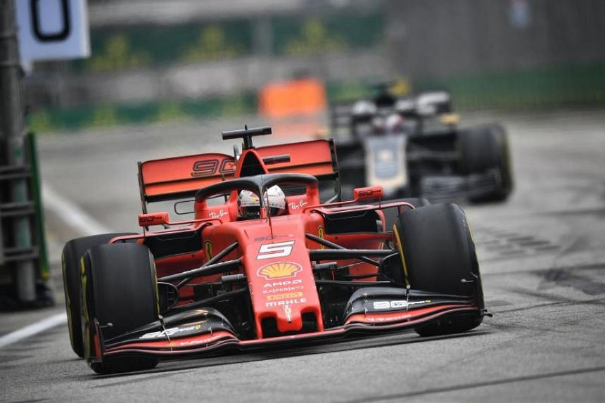 Ferrari's Sebastian Vettel was second, just 0.167 seconds adrift of Max Verstappen.