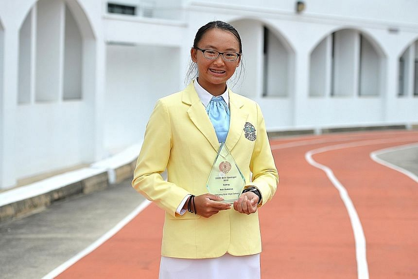 Radiance Koh, sailing's Best Sportsgirl, is targeting at least a silver at the SEA Games.
