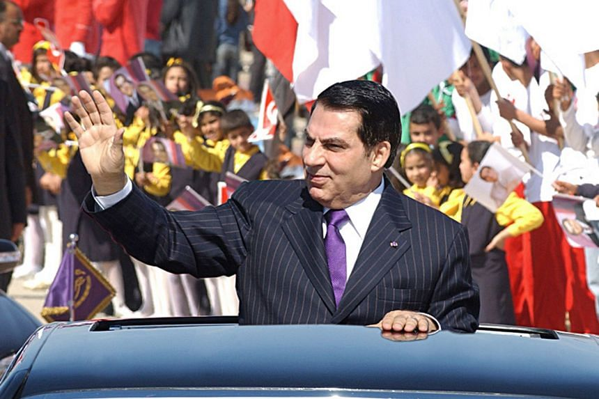 A 2006 photo shows Ben Ali waving to the crowd before delivering a speech celebrating Tunisia's independence.