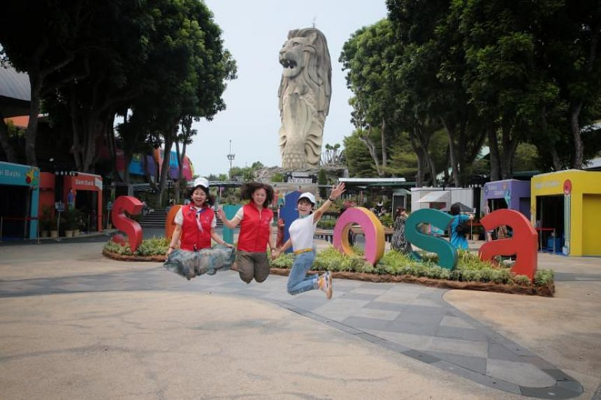 The largest of the seven Merlion statues in Singapore has towered over Sentosa for 24 years.