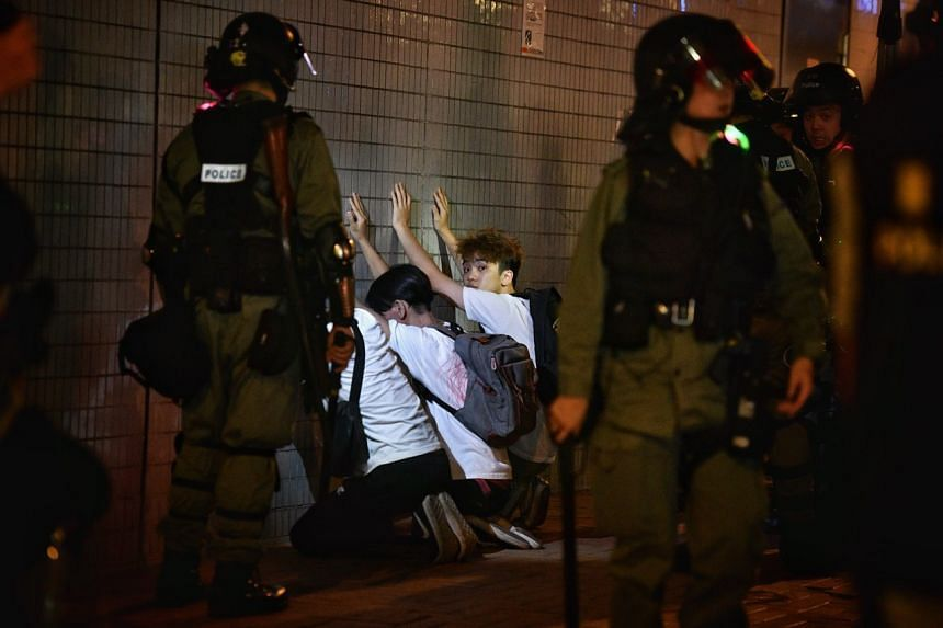 Three people arrested near Fung Cheung Road in Yuen Long.