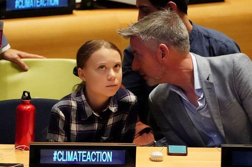 Swedish environmental activist Greta Thunberg appears at the Youth Climate Summit at the UN.