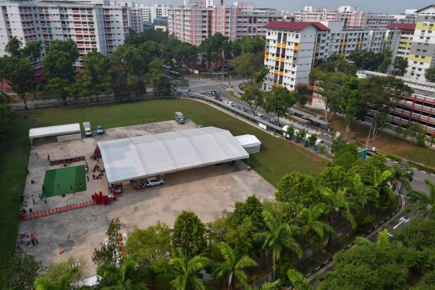 The hardcourt where future developments in Yew Tee are scheduled to take place, on Sept 22, 2019.