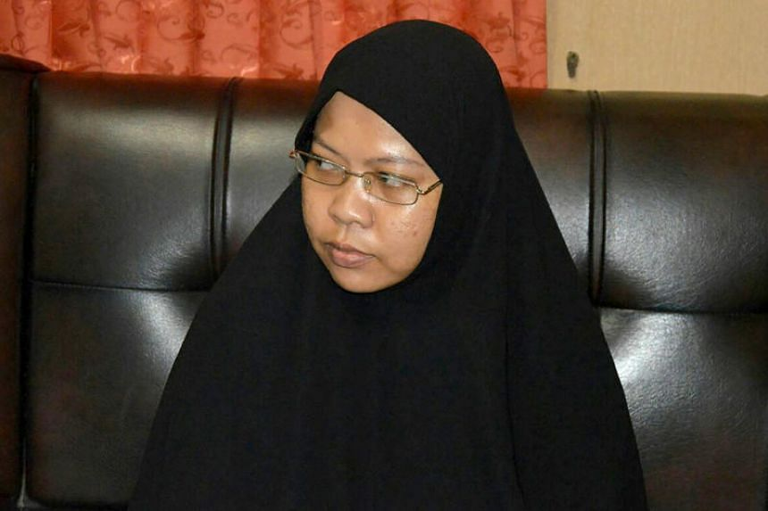 A picture taken on Dec 11, 2016 shows Dian Yulia Novi, one of two former domestic workers who had allegedly volunteered to become suicide bombers in Jakarta and Bali.