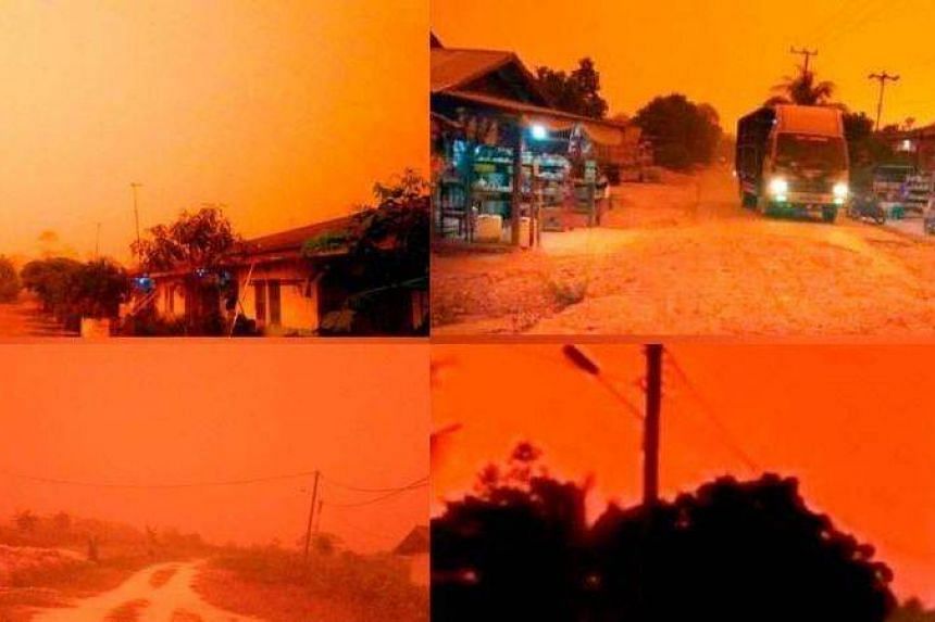 """It was reported that Indonesia National Board for Disaster Management information chief Agus Wibowo Soet had explained that the phenomenon, which was also known as """"Rayleigh Scattering"""", was caused by the movement of haze away from hotspots."""